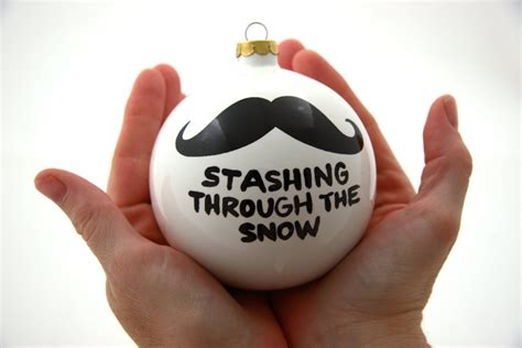 christmas ornament stashing through the snow ceramic by