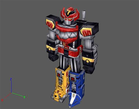 Megazord Papercraft - prmm megazord v1 by papercraftking on deviantart