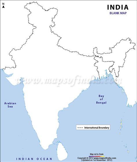 India Physical Map Outline A4 Size by Enjoy Reading India Map With Different Information Present
