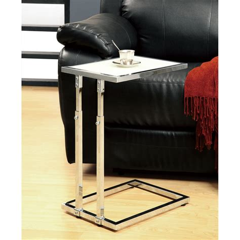 adjustable couch table chrome metal adjustable height accent table 14344479