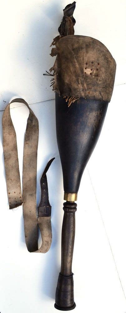 thc georgian wooden prosthetic peg leg cornwall navy