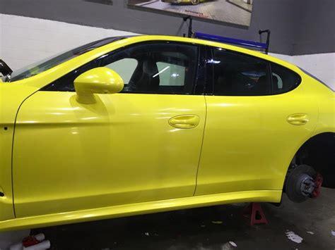 yellow porsche panamera yellow porsche panamera gts by impressive wrap