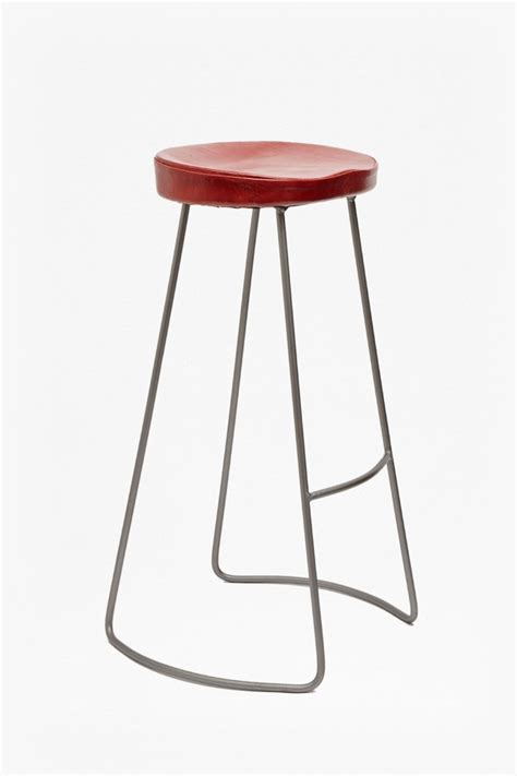bar stool leather seat red roger bar stool leather seat sale french connection