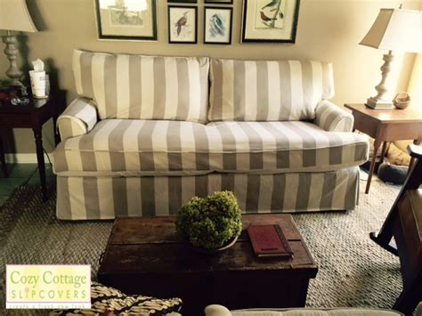 pet friendly slipcovers for cozy cottage slipcovers pet friendly striped slipcover