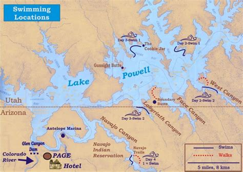 lake powell map manatee aquatic masters lake powell vacation