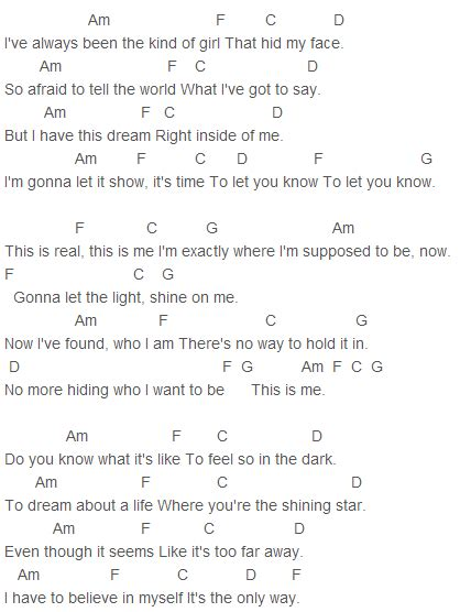 demi lovato lyrics this is me c rock this is me chords capo 1 gadgets and gizmos