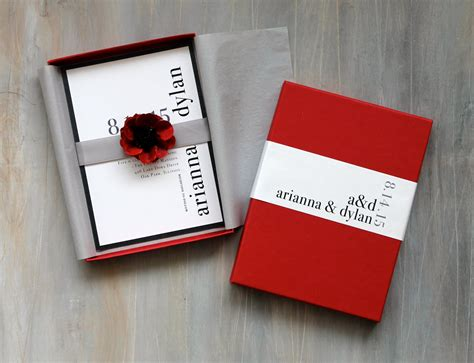 Wedding Invitations In A Box by Modern Luxury Box Wedding Invitations Wedding