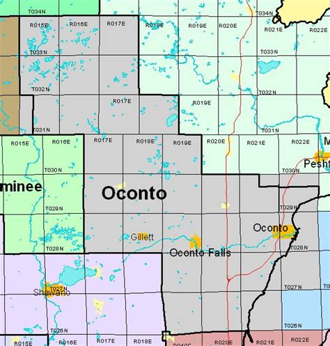 Oconto County Property Tax Records Section Township Range Finder 28 Images Township And