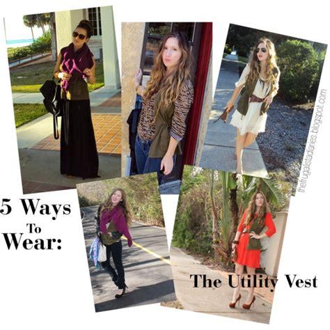7 Ways To Wear The Utility Trend by 5 Ways To Wear A Green Utility Vest Aka Cargo Vest