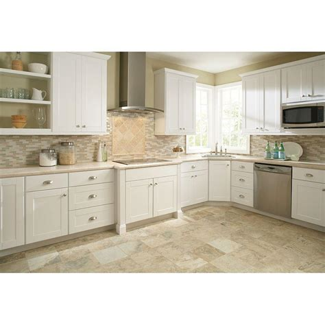 Hton Bay 30x30x12 In Shaker Wall Cabi In Satin White Kitchen Cabinets In White