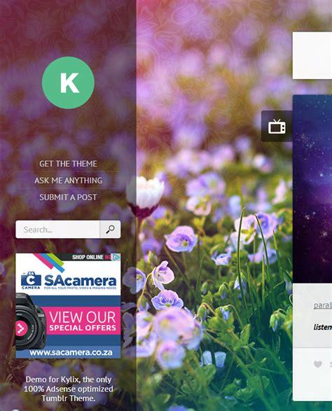free tumblr adsense themes kylix responsive adsense ready tumblr theme by tumblia
