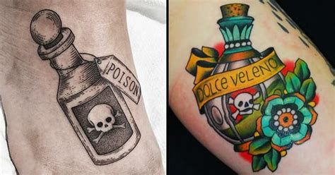 18 sinister poison bottle tattoos tattoodo