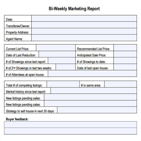 How To Write A Marketing Report Template Sle Marketing Report 14 Documents In Pdf Excel