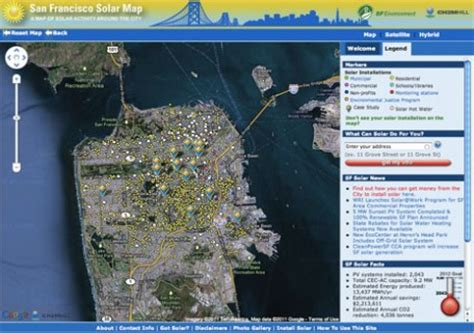 san francisco solar map solar panel cost estimating with maps solar power