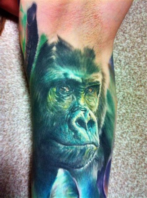 blue gorilla tattoo gorilla tattoos designs ideas and meaning tattoos for you