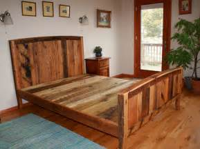 Country Style Wooden Bed Frames Unique Rustic Bed Frames Designs Decofurnish