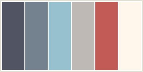 colour themes html colorcombo7626 with hex colors 525564 74828f 96c0ce