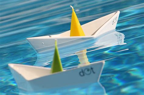 Origami Sailboat That Floats - floating boat candleholders by dot design milk