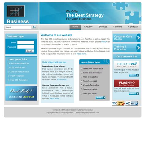 free jquery website templates for business free jquery blue business css website template bed