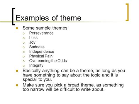 theme list for poems creating a thematic poetry compilation ppt video online