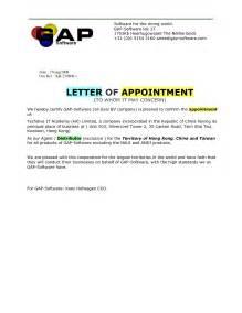 Dealer Appointment Letter Sample Distributor Appointment Letter Template Distributor