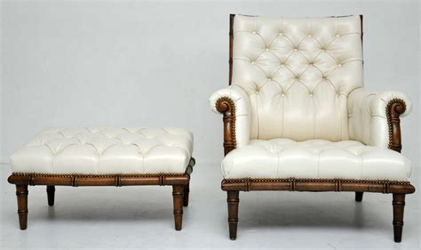 faux bamboo lounge chair and ottoman at 1stdibs faux bamboo leather lounge chair at 1stdibs