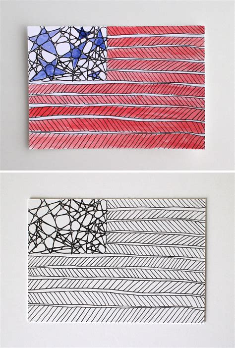 zentangle pattern nzeppel starz and stripez patriotic mail doodles tangled and