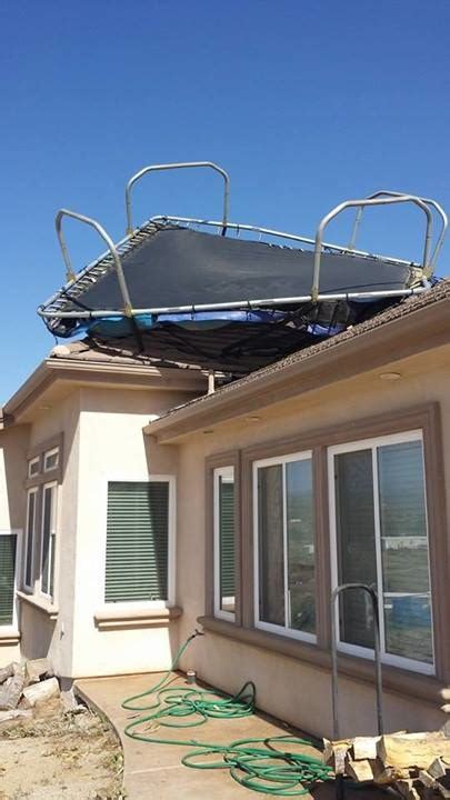 henderson house blog photo tornado drops dan henderson s troline on top of his house mmaweekly com
