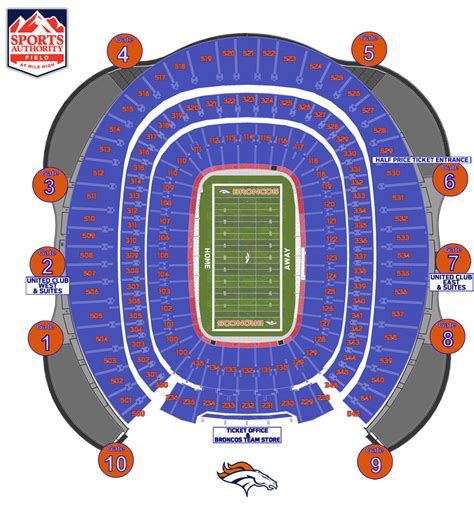 denver broncos stadium seating chart 3d stadium layouts