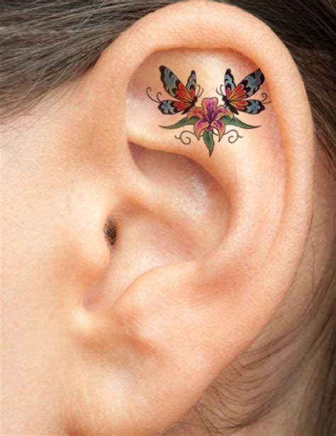 small butterfly tattoo behind ear 17 best ideas about ear tattoos on small