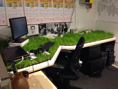 Office Prank Ideas Desk Grass Desk Prank Imaginationarium Of Play Pinterest April Fools Pranks And Images