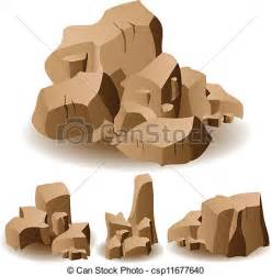 Stock Illustration Of Set Of Eps Vector Of Rock And Set Illustration Of Different Brown Rocks Csp11677640 Search