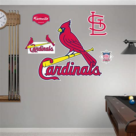 st louis cardinals logo wall decal shop fathead 174 for st
