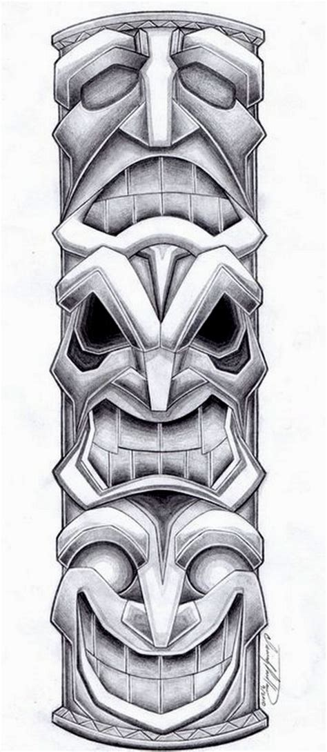totem pole tattoo design by spiderlaw on deviantart