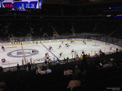 Msg Section 107 by Square Garden Section 107 New York Rangers
