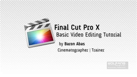 tutorial final cut pro x indonesia free final cut pro x tutorial