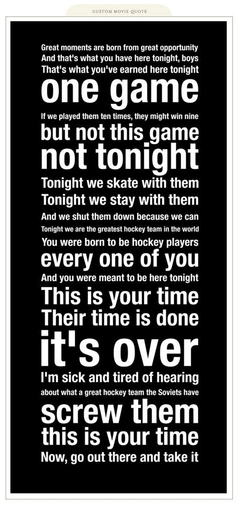 The Miracle Speech Hockey Quotes For Teams Quotesgram