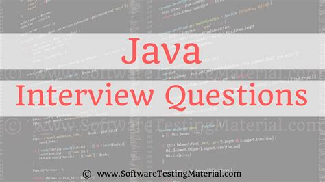pattern interview questions in java java interview questions and answers software testing