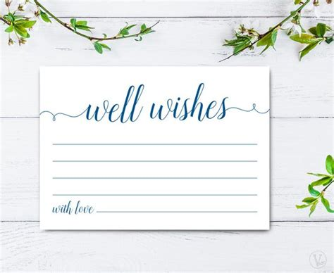 greeting cards word templates get well navy blue well wishes card template printable well wishes