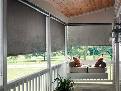 Patio Shades by Exterior Patio Shades Block The Sun Not The View