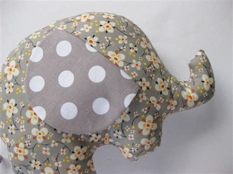 Handmade Elephant - elephant softie elephant cushion handmade with