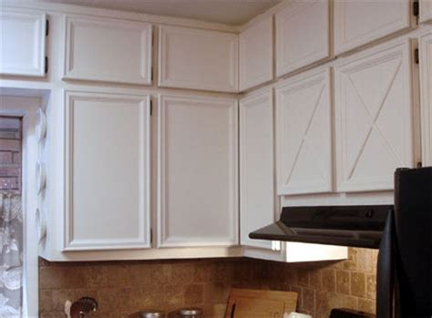 home dzine kitchen add moulding and trim to cabinets