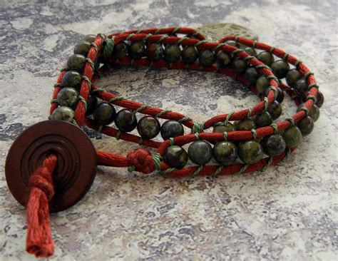 how to make beaded wrap bracelets how to make wrapped leather bracelets rings and things