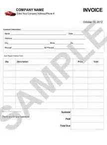 Car Repair Invoice Template Free Download Free Auto Repair Invoice Templates Free