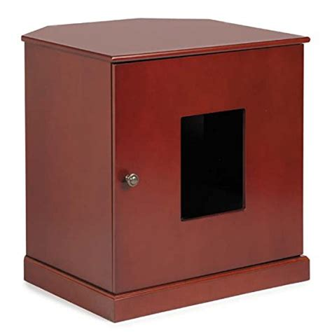 corner accent table with drawer corner end table cat litter cabinet with concealed drawer