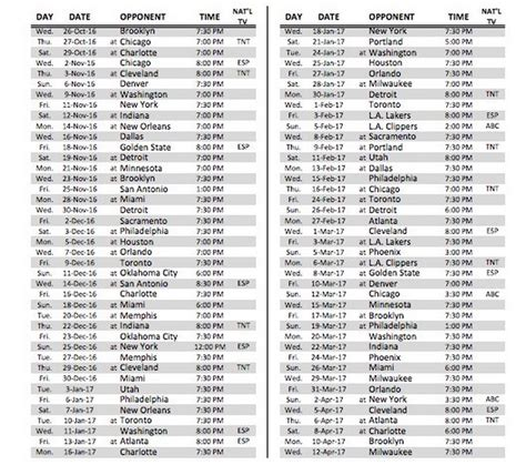 2016 2017 nba schedule page 3 realgm