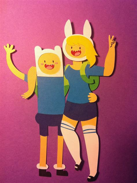 Adventure Time Paper Crafts - adventure time with finn and fionna papercraft by
