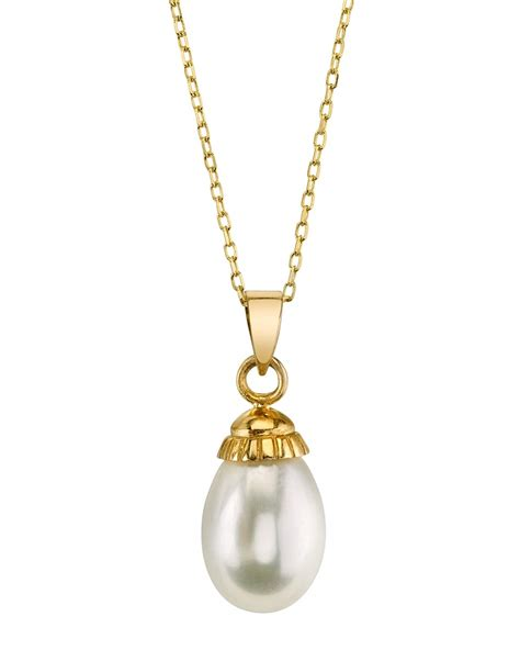 white freshwater cultured pearl pendant