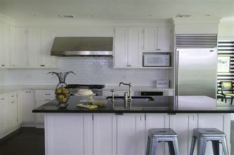 Kitchen Island With Sink And Seating Tolix Stools Transitional Kitchen Kwinter Design