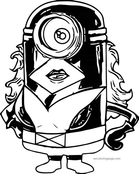 superhero minions coloring pages hero minions coloring page wecoloringpage